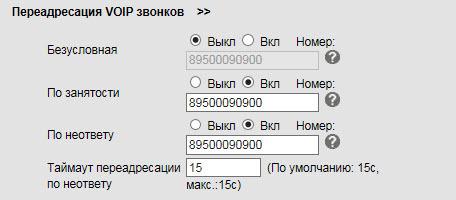 Переадресация вызовов.