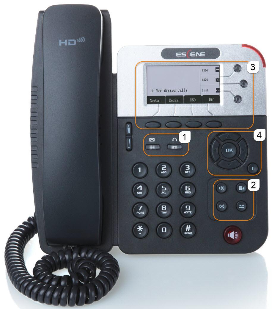 Фронтальная панель телефона.