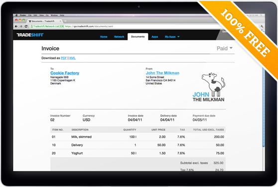 Обзор онлайн сервиса по работе с счетами Tradeshift.com