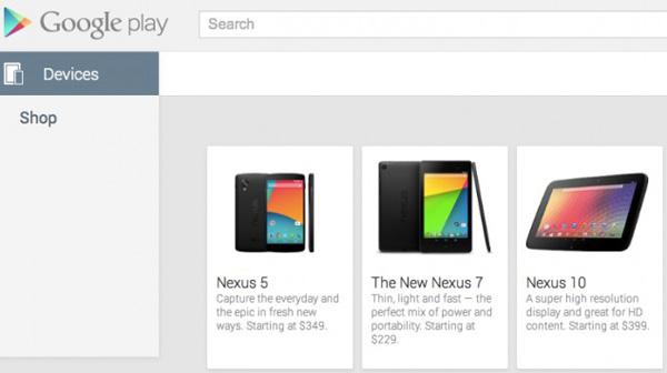 Смартфон Nexus 5 замечен в Google Play