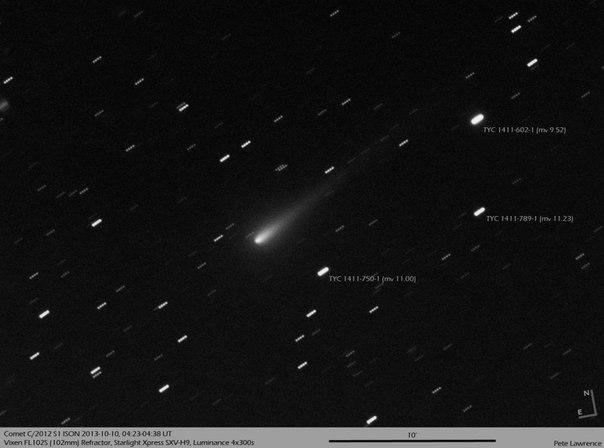 Опасна ли комета ISON?