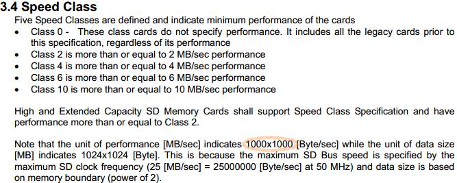 Определение класса скорости SD карты