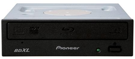 Оптический привод Pioneer BDR-2207 может записывать диски BDXL, BD, DVD и CD