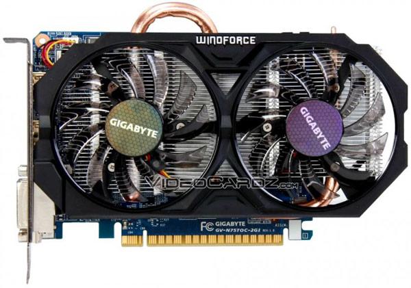 Модель Gigabyte GTX 750 Ti OC (GV-N75TOC-2GI) получила охладитель WindForce 2X