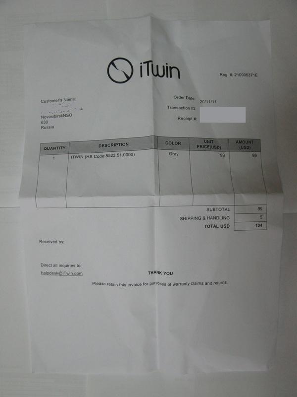 Опыт приобретения и использования гаджета iTwin