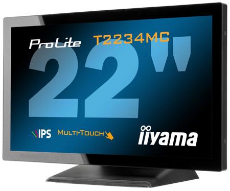 Основой монитора iiyama ProLite T2234MC стала панель типа IPS с емкостным сенсорным экраном