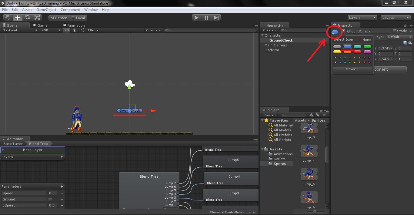 Unity3d как сделать прыжок персонажа