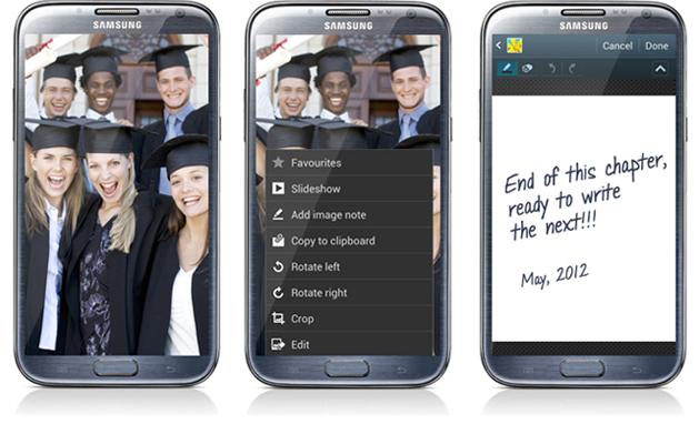 Отчет с презентации Samsung GALAXY Note II