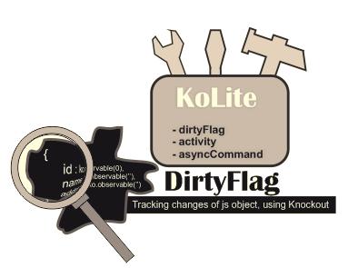 Отслеживание изменений в свойствах Js объекта с использованием dirtyFlag из пакета KoLite
