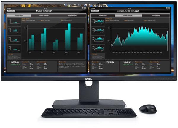 Панорамный монитор Dell UltraSharp U2913WM характеризуется соотношением сторон 21:9