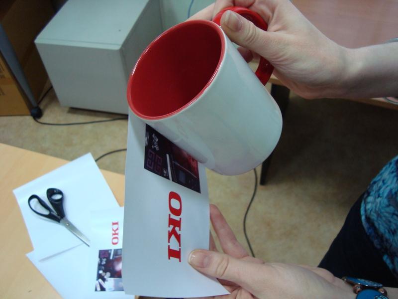 Печать на кружках с помощью термотрансферной бумаги
