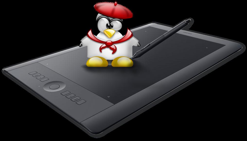 Подключение графического планшета Wacom Pro в Linux или как bash помогает художникам