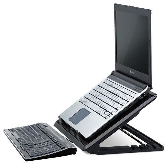 Подставка Cooler Master Notepal Ergostand II не только охлаждает ноутбук