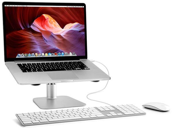 Подставка Twelve South HiRise for MacBook подходит и для других ноутбуков, позволяет поднять их над столом на 142 мм