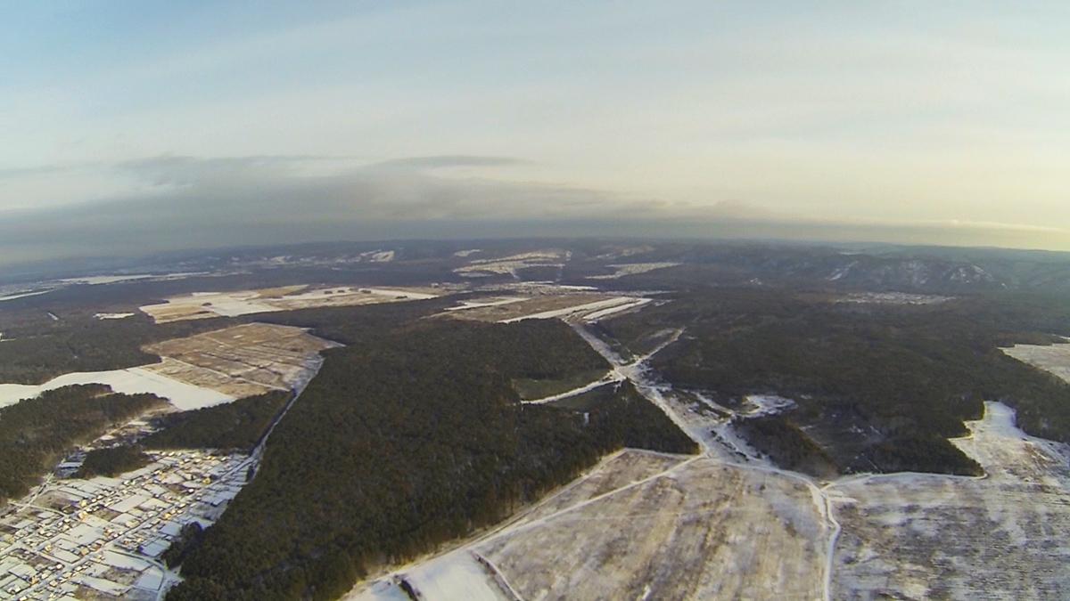 Полет квадрокоптера на высоте 1км