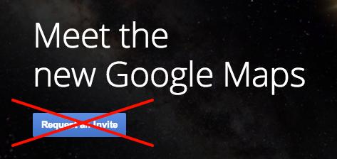 Получение доступа к новым картам Google без инвайта