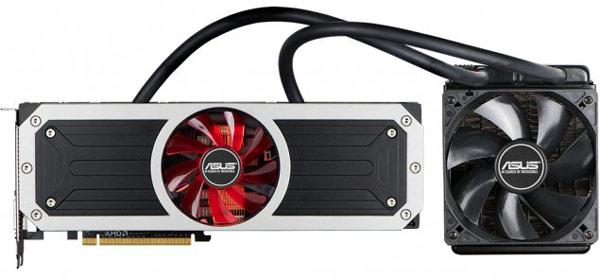 3D-карта Asus Radeon R9 295X2 8 GB (Vesuvius) оснащена гибридной системой охлаждения