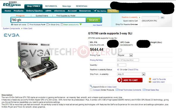 Насколько 3D-карта GeForce GTX 780 получилась дешевле GeForce GTX Titan?