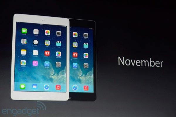 Продажи планшетов Apple iPad mini с дисплеем Retina начнутся в ноябре по цене $399