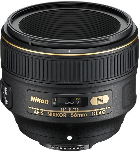 Цена объектива AF-S Nikkor 58mm f/1.4G — $1700