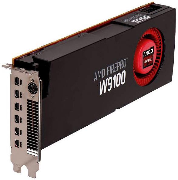 Производительность 3D-карты AMD FirePro W9100 для рабочих станций оценивается в 2,62 TFLOPS