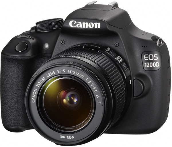 В комплекте с объективом EF-S 18-55mm f/3.5-5.6 IS II камера Canon EOS 1200D стоит $550