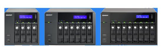Пропускная способность сетевых хранилищ QNAP TS-x69 Pro достигает отметки 220 МБ/с