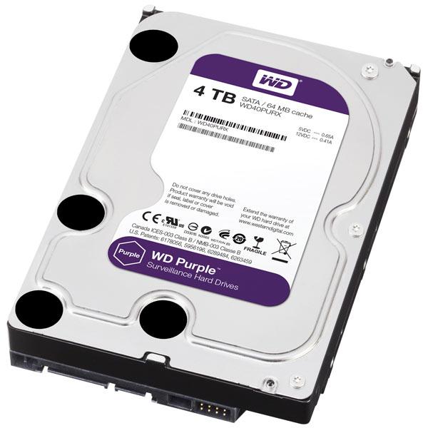 Объем жестких дисков для систем видеонаблюдения WD Purple достигает 4 ТБ