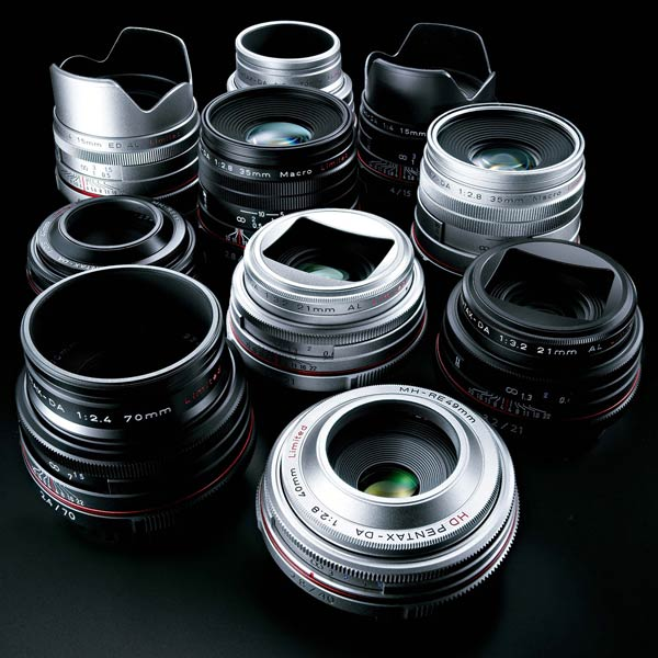 Объективы HD Pentax DA 15mm F4 ED AL Limited, HD Pentax DA 21mm F3.2 AL Limited, HD Pentax DA 35mm F2.8 Macro Limited, HD Pentax DA 40mm F2.8 Limited и HD Pentax DA 70mm F2.4 Limited имеют новое просветляющее покрытие