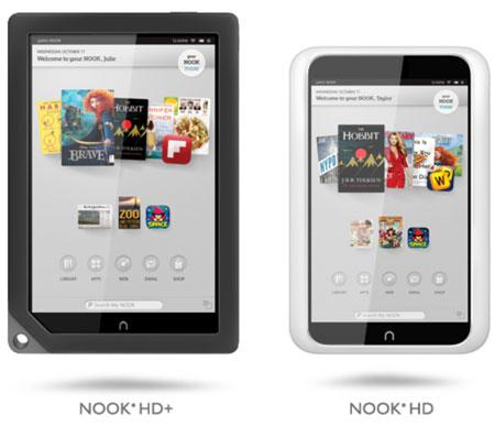 Представлены планшеты Barnes & Noble NOOK HD и NOOK HD+