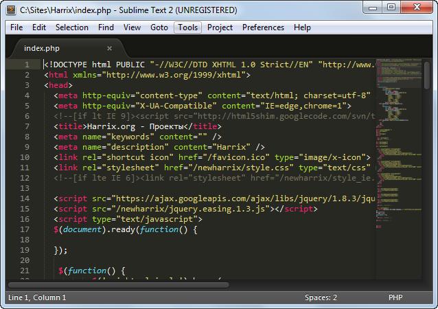 Превращаем Sublime Text 2 в Notepad++