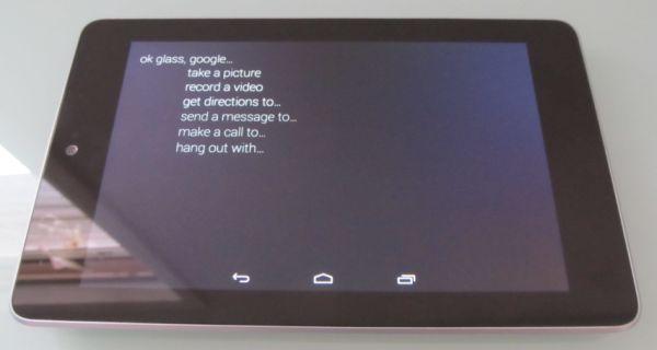 Приложения Google Glass запустили на планшете Nexus 7