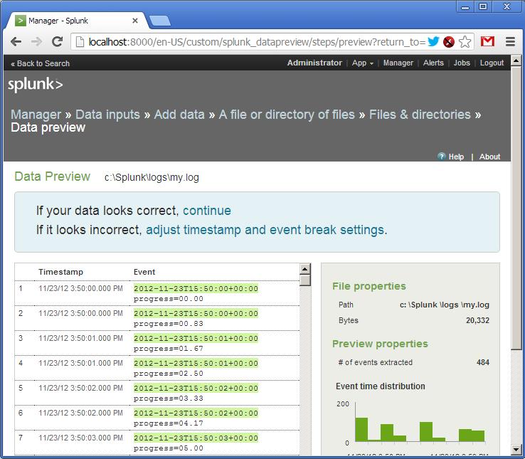 Пример использование Splunk для анализа логов