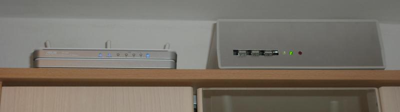 Приставка к роутеру (USB HUB + USB HDD + UPS)