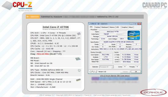 Напряжение питания ядра процессора Intel Core i7-4770K пришлось повысить до 2,56 В