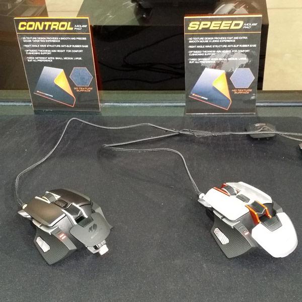 Для мышей предназначены коврики Cougar Control и Cougar Speed, различающиеся покрытием рабочей поверхности