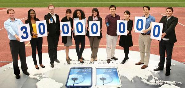Мировые продажи Galaxy S III превысили 30 млн. штук