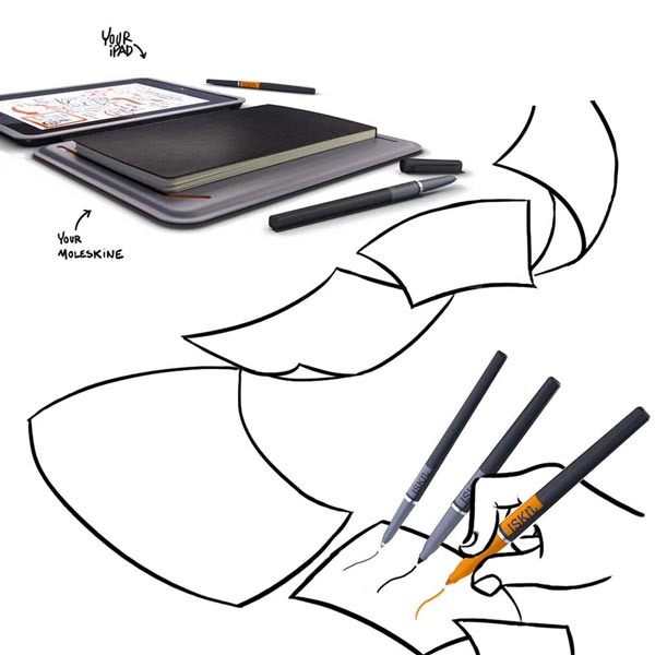 iSketchnote — обложка для iPad, позволяющая оцифровывать рисунки на бумаге