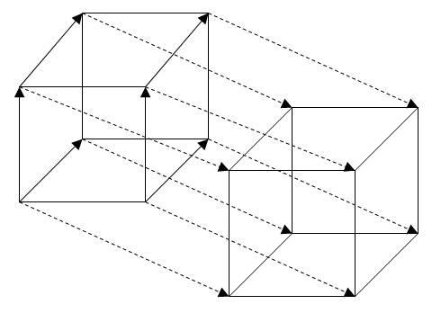 Программа для рисования четырёхмерного куба