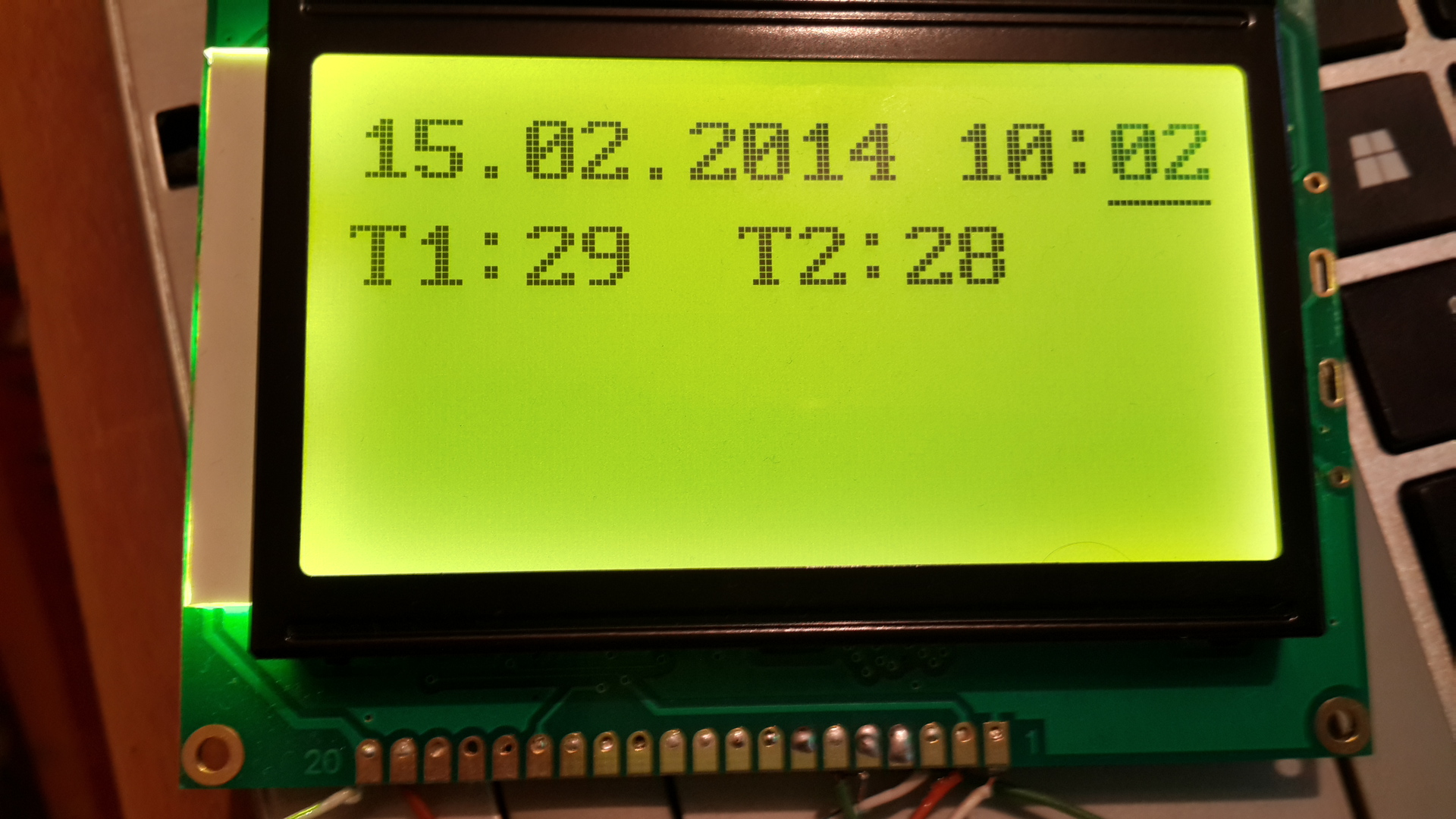 Программирование дисплея на контроллере ST7920