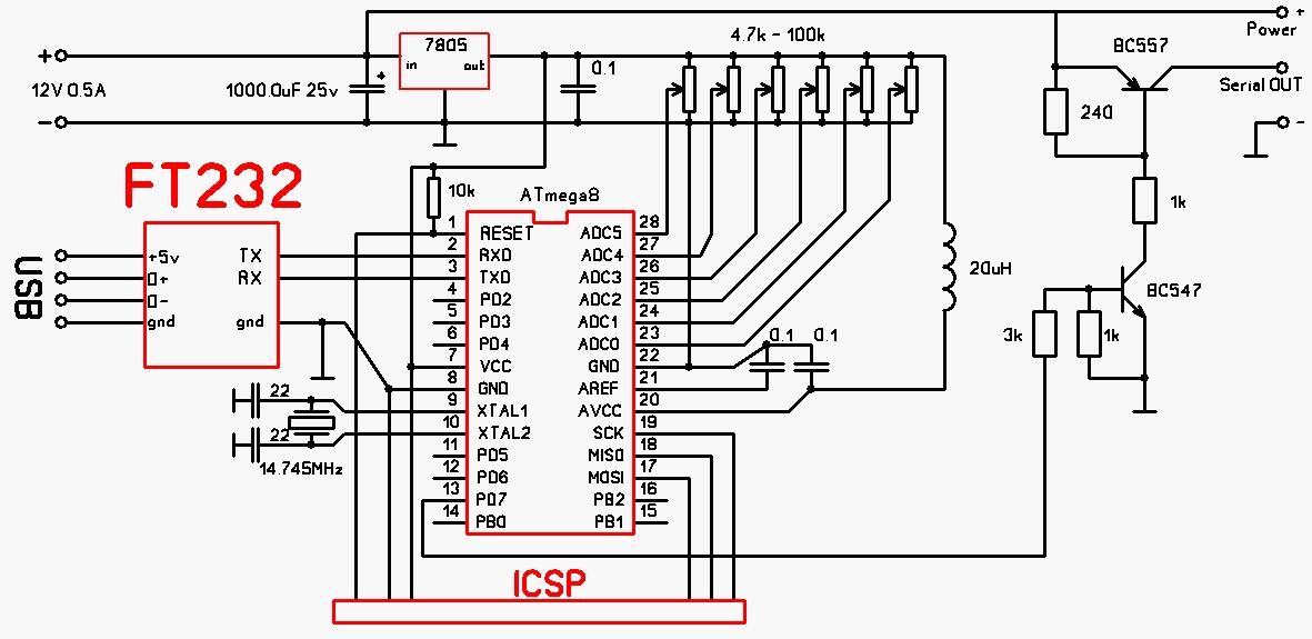 Простая 4 х цветная многоканальная гирлянда на основе микроконтроллера ATTINY13A