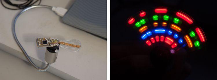 Простой вращающийся светодиодный дисплей