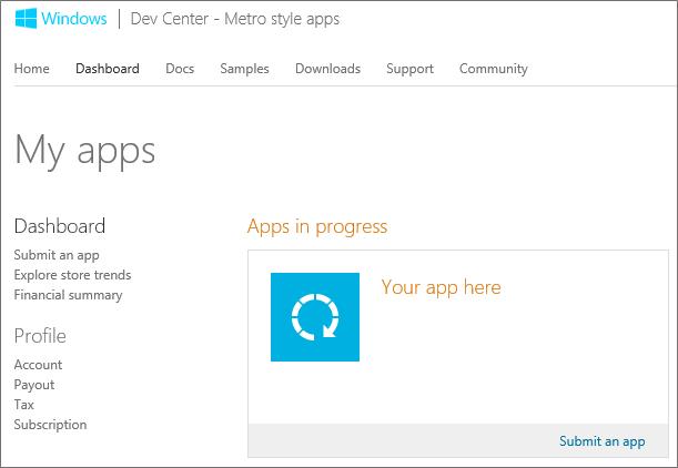 Публикация приложений в Windows Store. Часть первая – Регистрация в Магазине Windows
