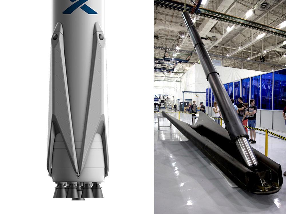 Ракета SpaceX Falcon 9 протестирует раскладные опоры для мягкой посадки