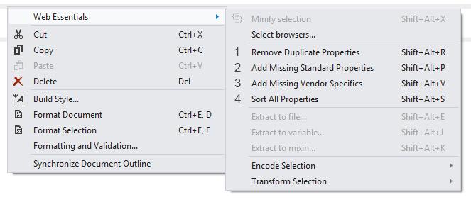 Расширение Web Essentials для Visual Studio: LESS, Zen Coding, CoffeeScript и многое другое