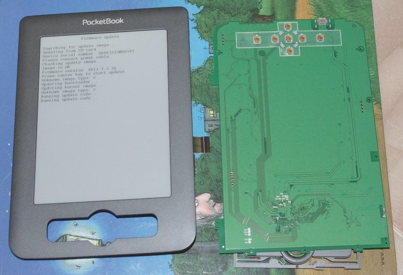 Разборка электронной книги Pocketbook 611