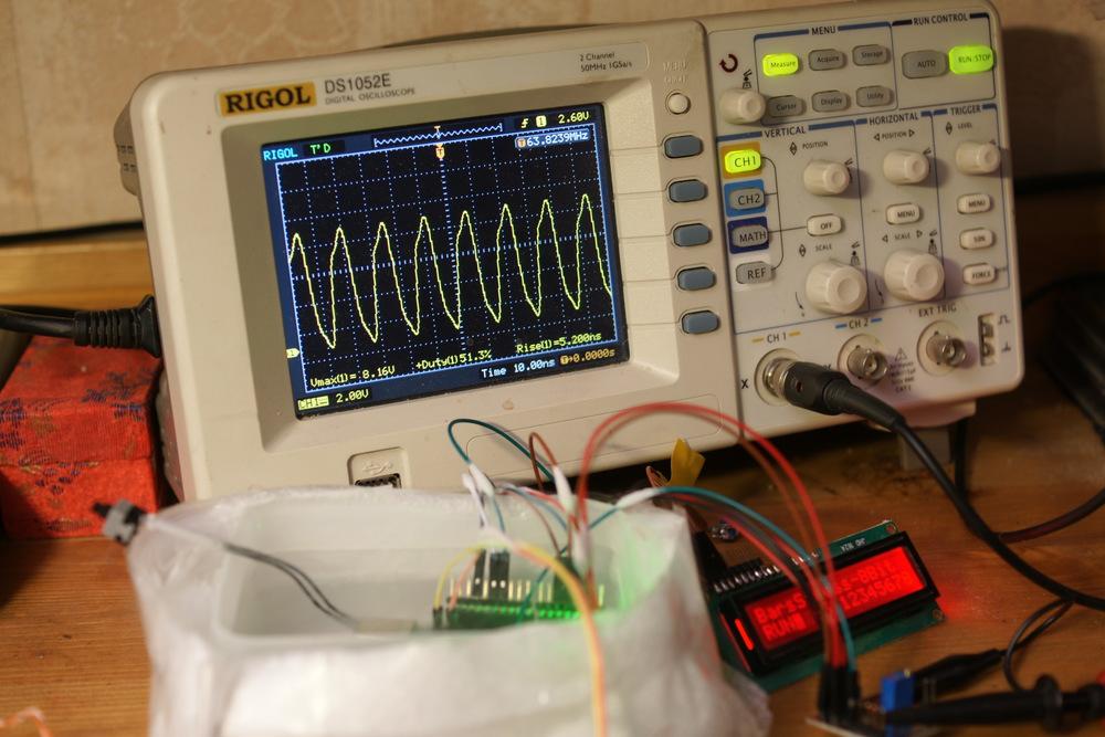 Разгон Arduino. Под жидким азотом. 20 ⇒ 65.3Mhz @  196 °C
