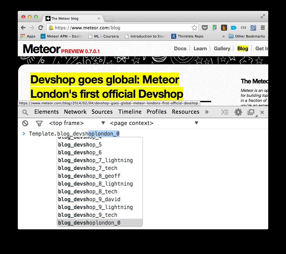 Разработка статического сайта на Meteor
