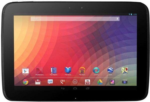 Разрешение экрана планшета Google Nexus 10 равно 2560 x 1600 пикселей
