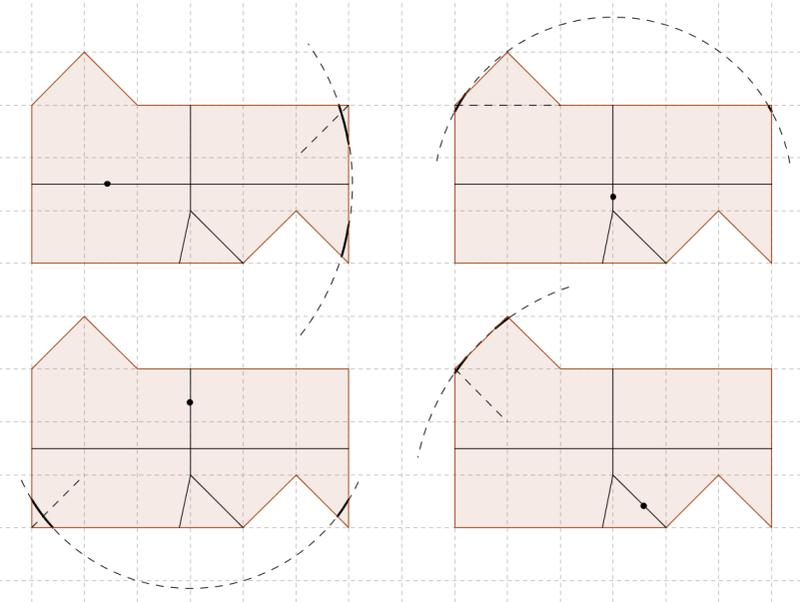 Разрезание на две равные части, вторая часть второй части